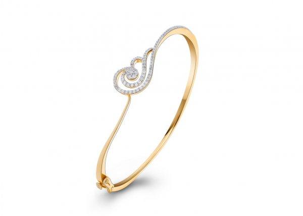 18K Yellow Gold FG Colour IF Clarity Royal Swan Diamond Bracelet 1.120Ct SG06865BN