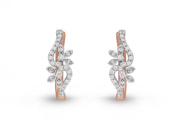 18K White Gold Colour Clarity Twiglet Crest Diamond Earring 0.680Ct SG15668E