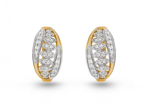 18K Yellow Gold Colour Clarity Sprig Chaplet Diamond Earring 0.760Ct SG15673E