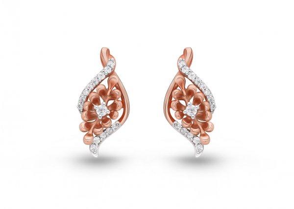 18K Rose Gold color clarity Medoza Diamond Earring 0.230 SG16681E