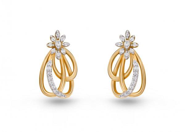18k Yellow Gold FG Colour IF Clarity Maura Diamond Earring 0.22Ct SG16924E