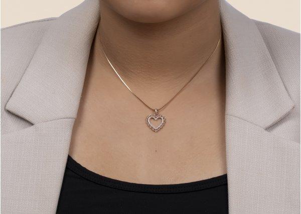 18K Rose Gold FG Colour IF Clarity Hearty Cheer Diamond Pendant 0.220Ct SG11881P