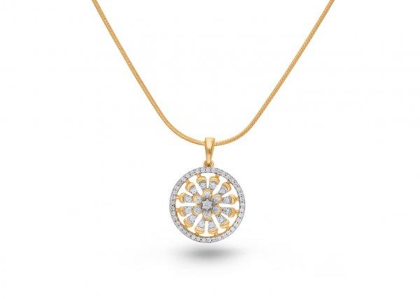 18k Yellow Gold Swivel Diamond Pendant 0.610Ct SG13950P