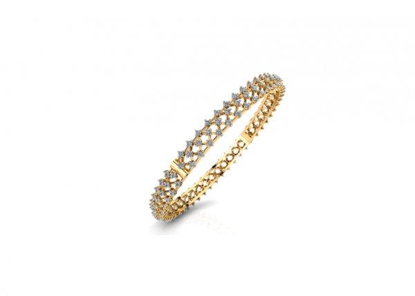 18K Yellow Gold IF-FG Diamond Bangle 2.336 ct-SDBA1068