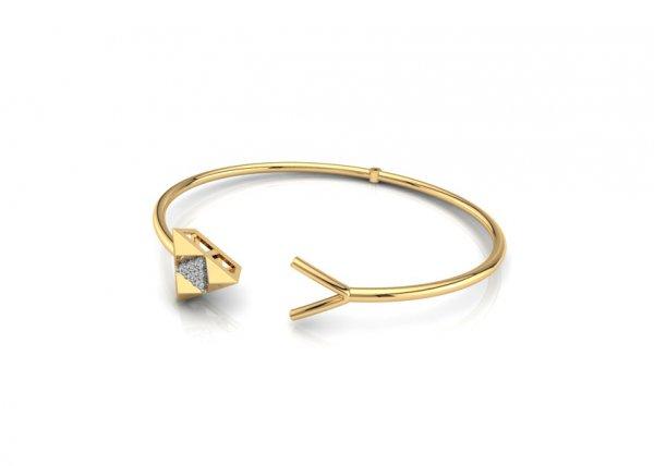 18K Yellow Gold IF-FG Diamond Bracelet 0.06 ct-SDBT1094