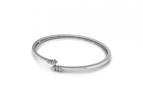 18K White Gold IF-FG Diamond Bracelet 0.114 ct-SDBT1117