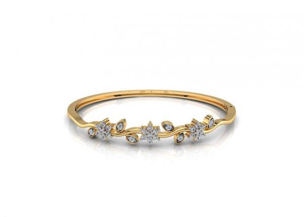 18K Yellow Gold IF-FG Diamond Bracelet 0.54 ct-SDBT1139