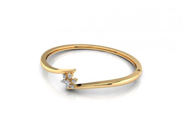 18K Yellow Gold IF-FG Diamond Bracelet 0.107 ct-SDBT1144