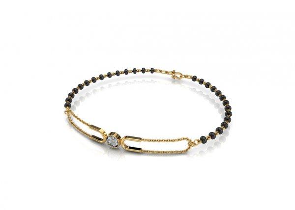 18K Yellow Gold IF-FG Diamond Bracelet 0.035 ct-SDBT1158