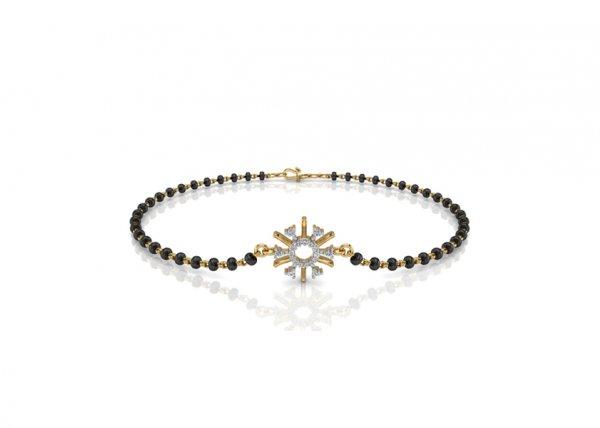 18K Yellow Gold IF-FG Diamond Bracelet 0.106 ct-SDBT1162