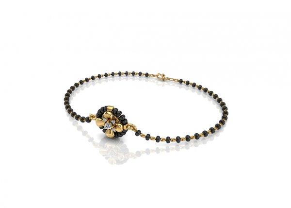 18K Yellow Gold IF-FG Diamond Bracelet 0.096 ct-SDBT1163
