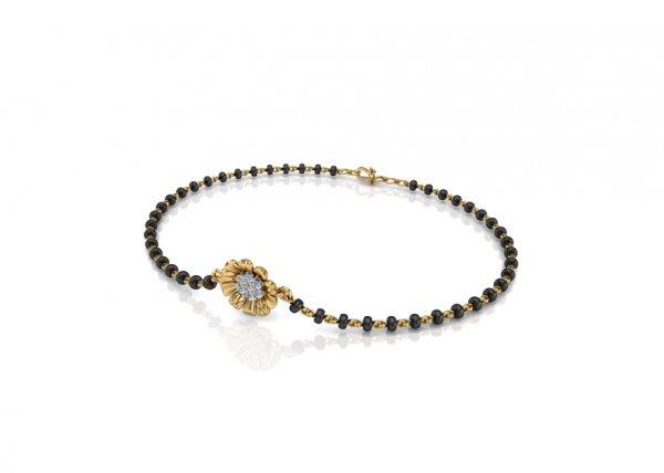 18K Yellow Gold IF-FG Diamond Bracelet 0.077 ct-SDBT1164