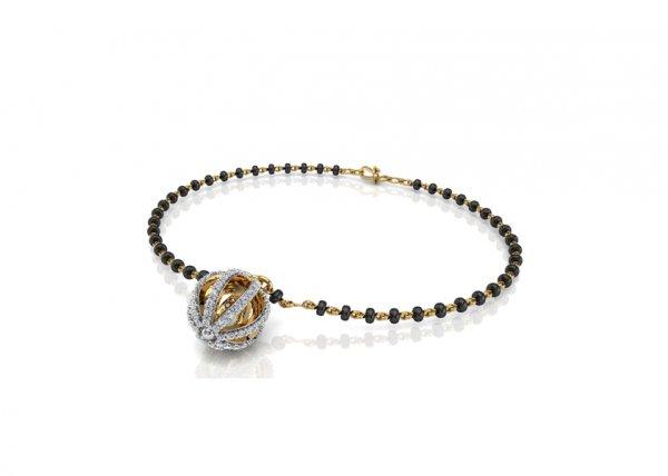 18K Yellow Gold IF-FG Diamond Bracelet 0.6 ct-SDBT1165