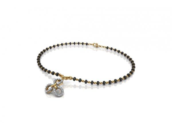 18K Yellow Gold IF-FG Diamond Bracelet 0.147 ct-SDBT1168
