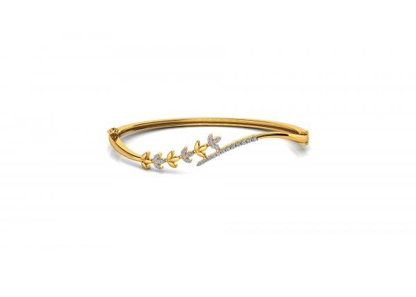 18K Yellow Gold IF-HI Diamond Bracelet 0.153 ct-SDBT1256