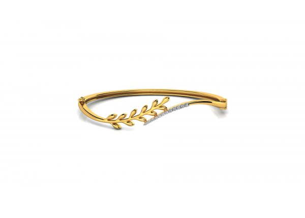 18K Yellow Gold IF-HI Diamond Bracelet 0.28 ct-SDBT1258