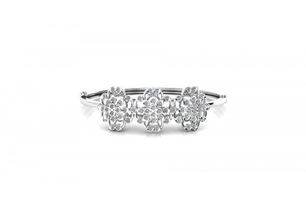 18K White Gold IF-HI Diamond Bracelet 1.188 ct-SDBT1277