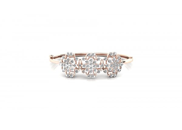 18K Rose Gold IF-HI Diamond Bracelet 1.188 ct-SDBT1294