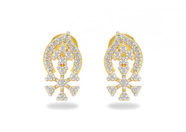 Beryl Diamond Earring