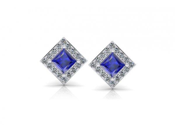 18K White Gold IF-FG Diamond Earring 0.352 ct-SDER1821