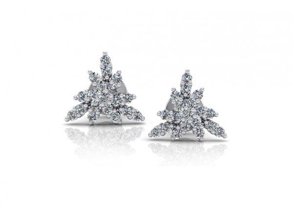 18K White Gold IF-FG Diamond Earring 0.266 ct