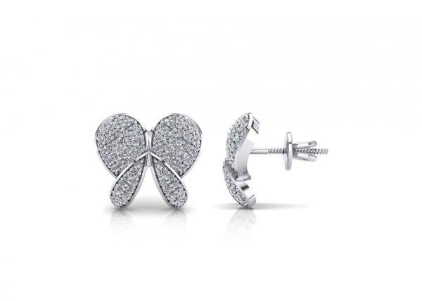 18K White Gold IF-FG Diamond Earring 0.912 ct-SDER1894