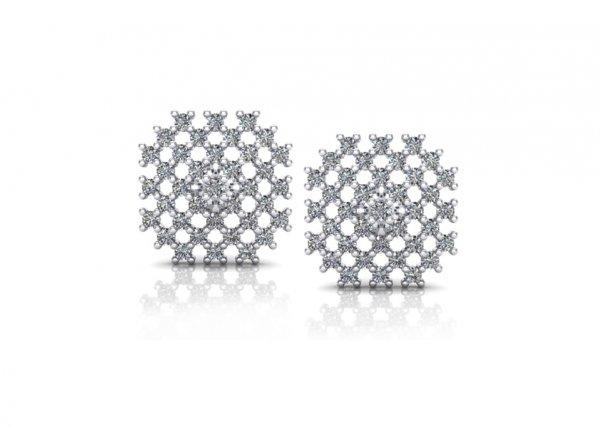 18K White Gold IF-FG Diamond Earring 0.814 ct-SDER1897