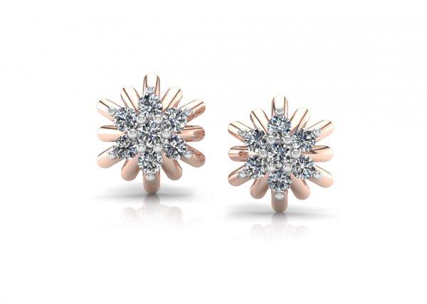 18K Rose Gold IF-FG Diamond Earring 0.28 ct