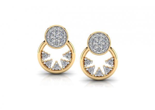 18K Yellow Gold IF-FG Diamond Earring 0.22 ct