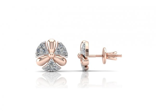 18K Rose Gold IF-FG Diamond Earring 0.324 ct