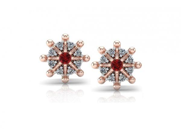 18K Rose Gold IF-FG Diamond Earring 0.096 ct