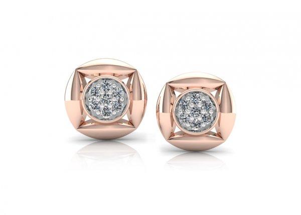 18K Rose Gold IF-FG Diamond Earring 0.21 ct