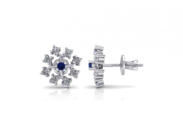 18K White Gold IF-FG Diamond Earring 0.4 ct