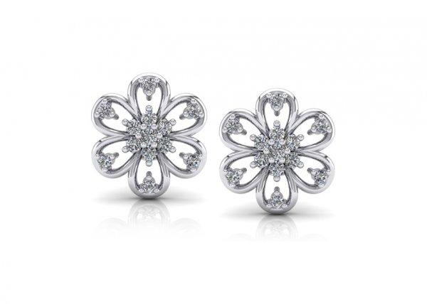 18K White Gold IF-FG Diamond Earring 0.238 ct