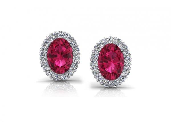 18K White Gold IF-FG Diamond Earring 0.39 ct