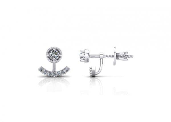 18K White Gold IF-FG Diamond Earring 0.184 ct-SDER2211