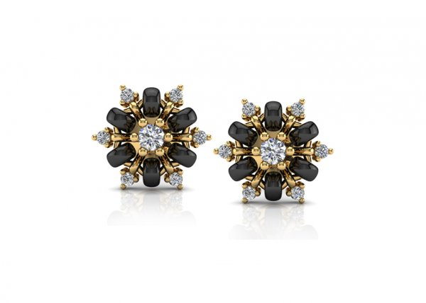 18K Yellow Gold IF-FG Isla Diamond Earring 0.11 Ct-SDER2215
