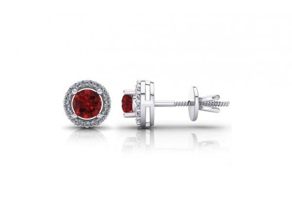 18K White Gold IF-FG Diamond Earring 0.17 ct