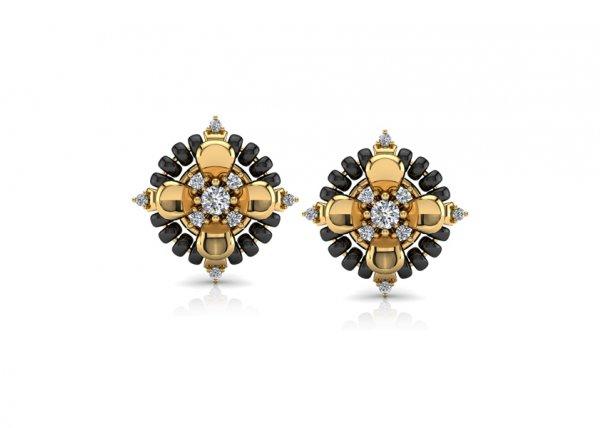 18K Yellow Gold IF-FG Diamond Earring 0.12 ct-SDER2221