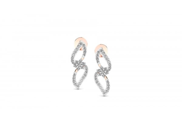 18K Rose Gold IF-HI Diamond Earring 0.458 ct-SDER2483