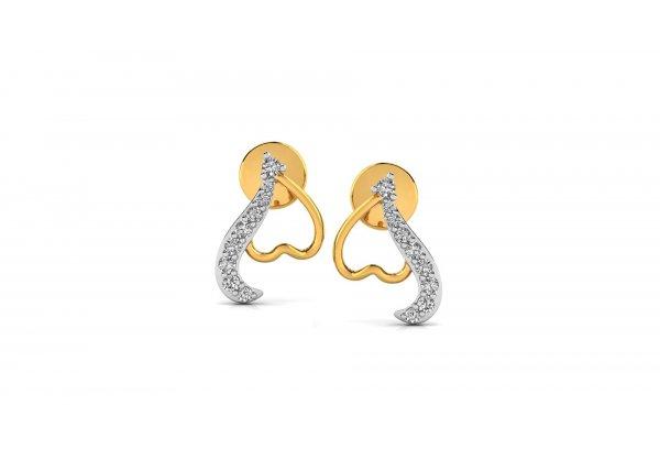 18K Yellow Gold IF-HI Diamond Earring 0.17 ct-SDER2831