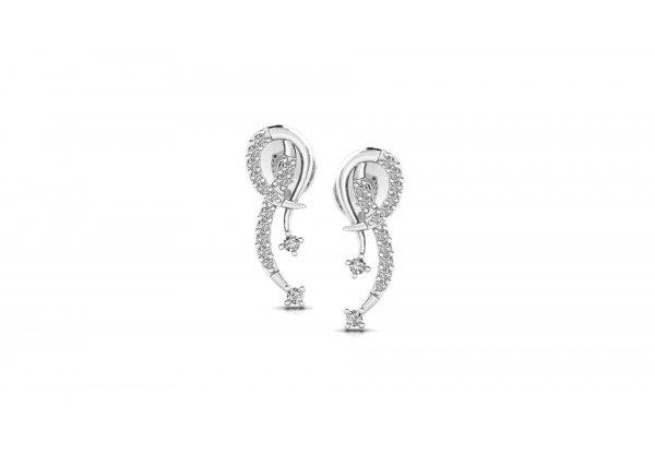 18K White Gold IF-HI Diamond Earring 0.17 ct-SDER3195