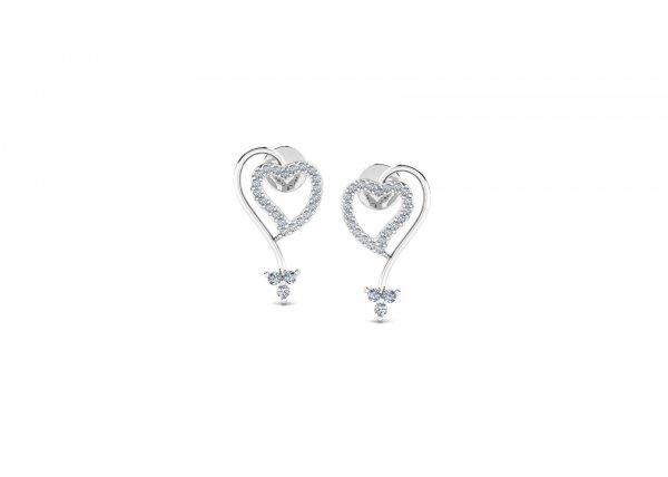 18K White Gold IF-HI Diamond Earring 0.3 ct-SDER3206