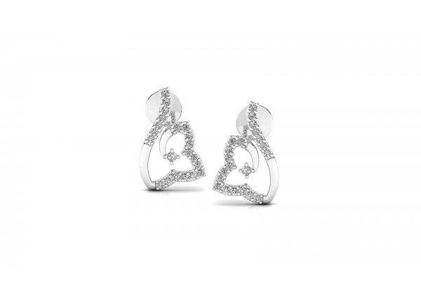 18K White Gold IF-HI Diamond Earring 0.256 ct-SDER3210