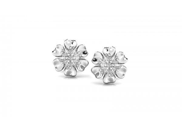 18K White Gold IF-HI Diamond Earring 0.14 ct-SDER3213