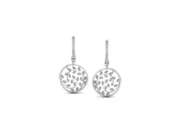 18K White Gold IF-HI Diamond Earring 0.552 ct-SDER3220