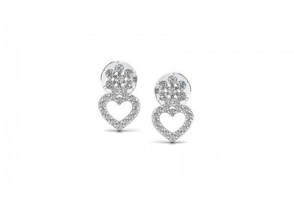 18K White Gold IF-HI Diamond Earring 0.266 ct-SDER3230