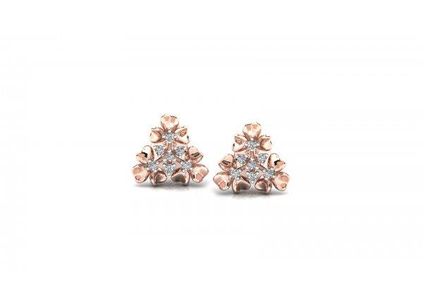 18K Rose Gold IF-HI Diamond Earring 0.112 ct-SDER3294