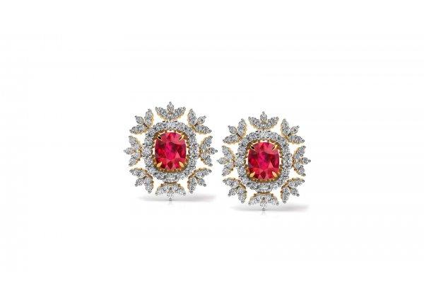 18K Yellow Gold IF-HI Diamond Earring 0.968 ct-SDER3300