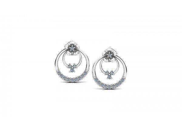 18K White Gold IF-HI Diamond Earring 0.272 ct-SDER3301